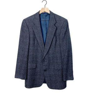 Christian Dior Monsieur Tweed Blue Blazer Jacket
